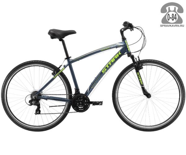 """Велосипед Старк (Stark) Terros 28.2 V (2017), рама 20.5"""" размер рамы 20.5"""" серый"""