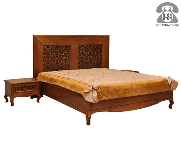 Кровати Видана 2-спальная массив дуба 1-ярусная (одноярусная) 2100 мм 1200 мм 1814 мм Белоруссия