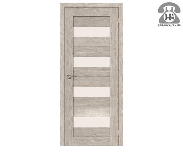 Дверь межкомнатная деревянная ЭльПорта, фабрика (el PORTA) Порта-23 Magic Fog цвет: капучино вералинга (cappuccino veralinga) остеклённая 80см