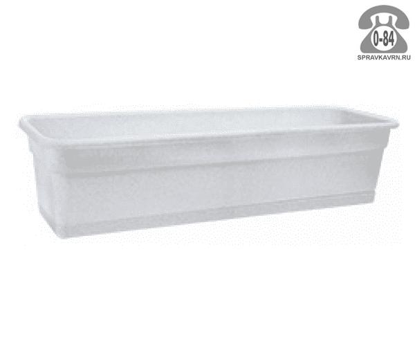 Ящик балконный пластик 80 см 20 см 20 см 80 л без поддона мраморный Россия