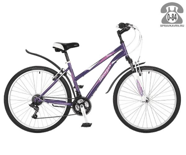"""Велосипед Стингер (Stinger) Latina 26"""" (2017), рама 15.5"""", красный размер рамы 15.5"""" красный"""