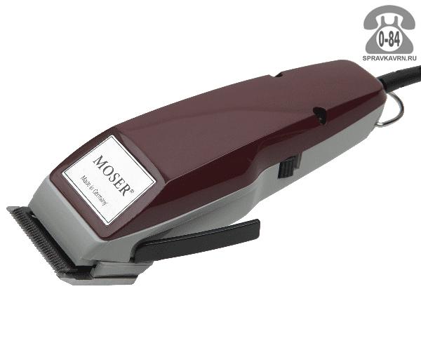 Машинка для стрижки волос Мозер (Moser) вибрационная от сети 10 Вт 46 мм ножи из нержавеющей стали бордовый Германия