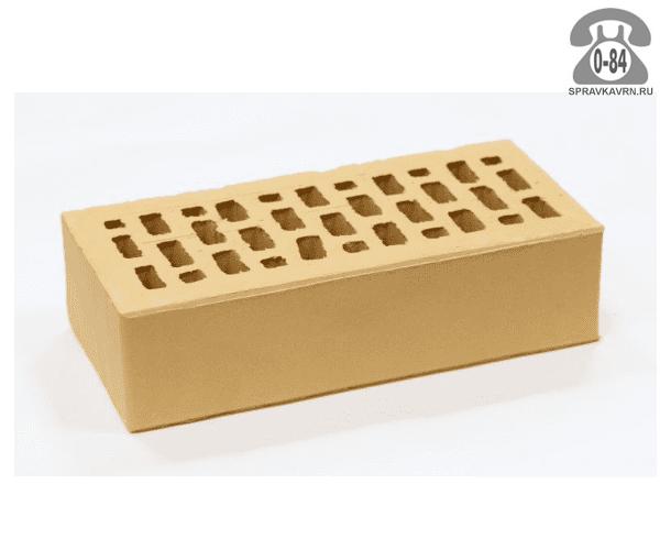 Кирпич облицовочный керамический Павловская керамика М150 одинарный 1НФ соломенный гладкая г. Павловский Посад