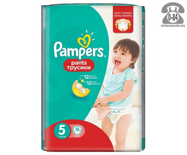 Подгузники для детей Памперс (Pampers) Pants 12-18 кг (15) 12-18, 15шт.