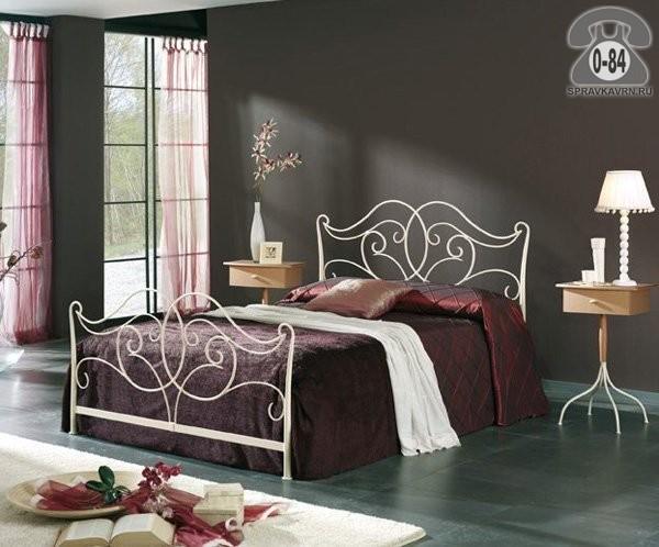 Кровать 2-спальная массив дерева + металл кованая 1-ярусная (одноярусная) 2150 мм 860 мм 1650 мм 2000 мм 1600 мм тёмный дуб Испания