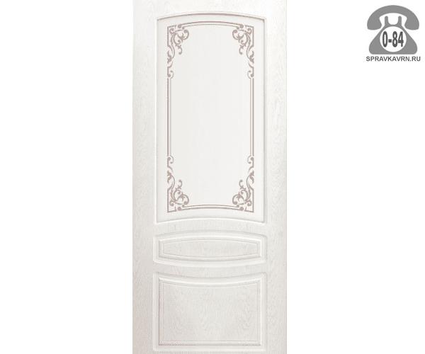Межкомнатная деревянная дверь Левша, фабрика Венеция остеклённая 70 см снежный дуб