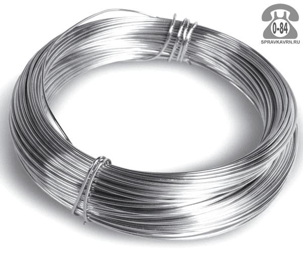 Проволока металлическая стальная 2 мм оцинкованная