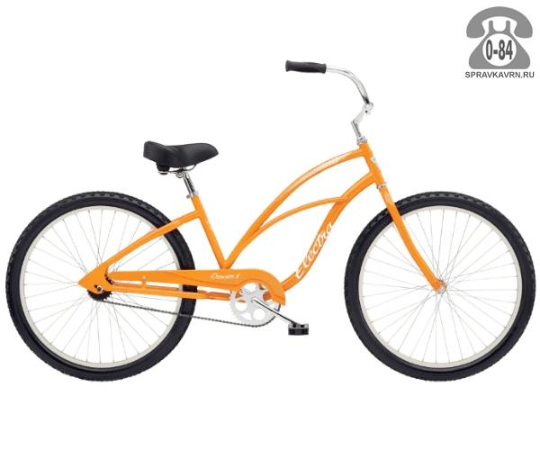 "Велосипед Электра (Electra) Cruiser 1 Ladies (2016) размер рамы 18"" оранжевый"