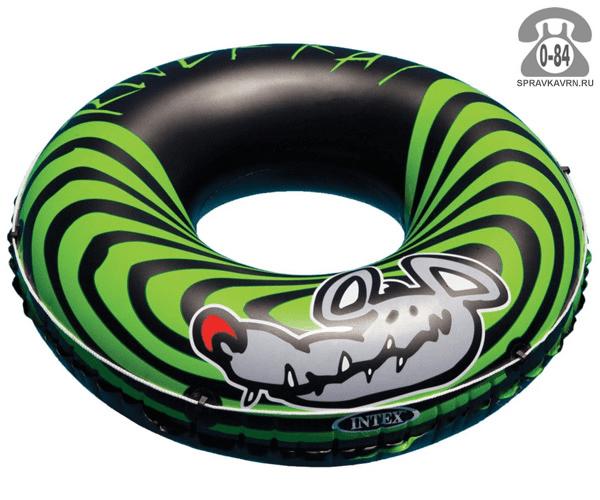 Круг надувной для плавания Интекс (Intex) River Rat 122 см, 68209