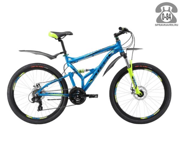 "Велосипед Старк (Stark) Jumper 26.2 FS D (2017), рама 20.5"", синий размер рамы 20.5"" синий"