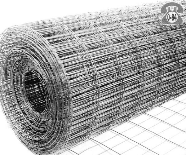 Строительная сетка диаметр 1.6мм  ячейка 50x25мм ширина 1.5м