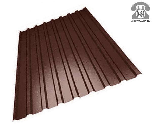Профнастил МП20 полимерное 1100x0.7мм шоколадно-коричневый