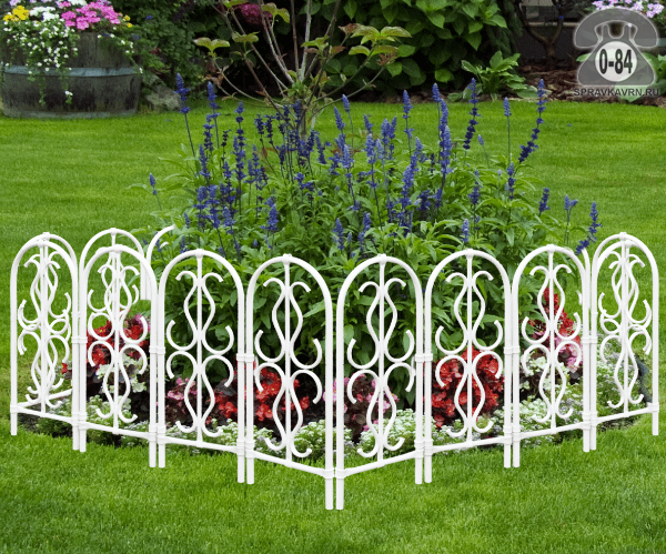 Бордюр садовый ГарденПласт Белый, 150x90 см, белый