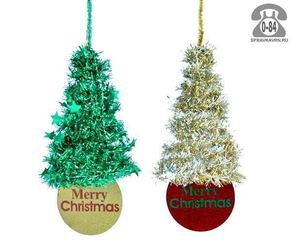 Ёлка искусственная Мери Кристмас (Merry Christmas) Ель из мишуры 0,3 м 52-00218-021