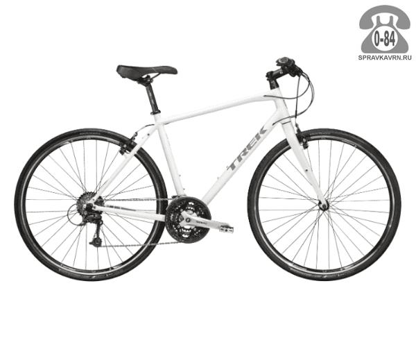 """Велосипед Трек (Trek) 7.4 FX (2016), рама 18"""", белый размер рамы 18"""" белый"""
