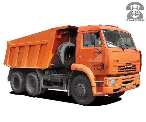 Грузоперевозка. Автомобиль грузовой с водителем - предоставление для перевозки грузов КАМАЗ (KAMAZ) самосвал
