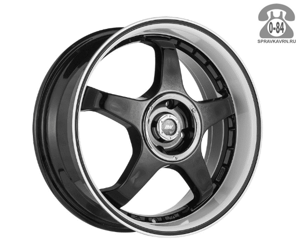"""Диск РВ (Racing Wheels) H-305 15"""" ширина 6.5"""" крепежных отверстий 4 диаметр расположения отверстий 98 мм вылет колеса (ET) 40 мм диаметр центрального отверстия 58.6 мм"""
