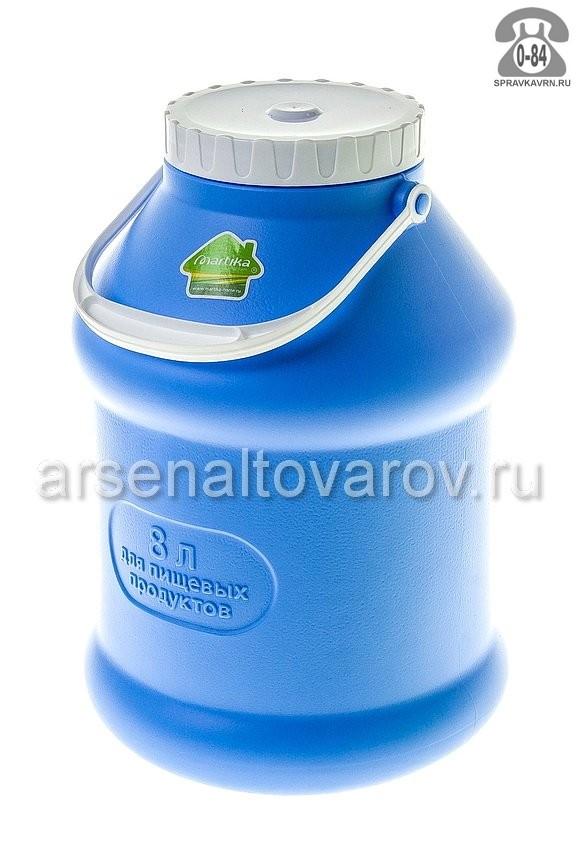 бидон пластмассовый 8 л для пищевых Просперо (С927ФИЛ) фиолетовый (Мартика)