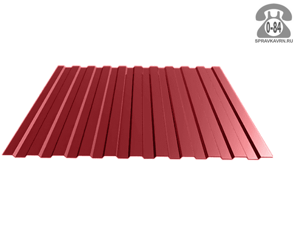 Профнастил С8 винно-красный  1200x0.5 мм полимерное
