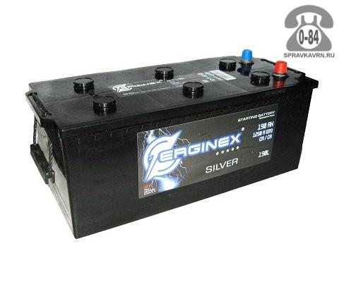 Аккумулятор для транспортного средства Эрджинекс (Erginex) 6СТ-190 (болт) полярность прямая, 518*240*242мм