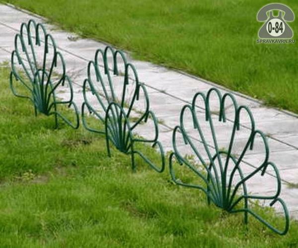 Бордюр садовый Полимерсад Павлин, 525x80 см, мультиколор