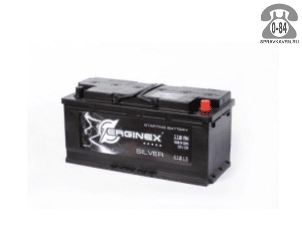 Аккумулятор для транспортного средства Эрджинекс (Erginex) 6СТ-110 полярность прямая, 352*175*190мм