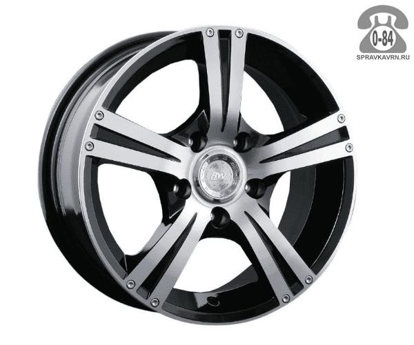 """Диск РВ (Racing Wheels) H-326 15"""" ширина 6.5"""" крепежных отверстий 4 диаметр расположения отверстий 100 мм вылет колеса (ET) 40 мм диаметр центрального отверстия 73.1 мм"""