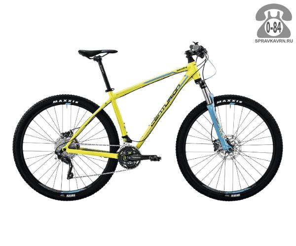 """Велосипед Центурион (Centurion) Backfire Pro 400.29 (2017) размер рамы 19.5"""" желтый"""