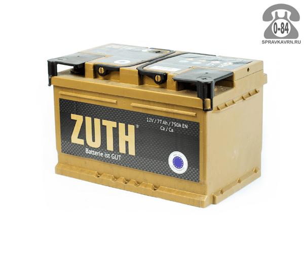 Аккумулятор для транспортного средства Зуф (Zuth) 6СТ-70 (низкий) обратная полярность 278*175*175 мм