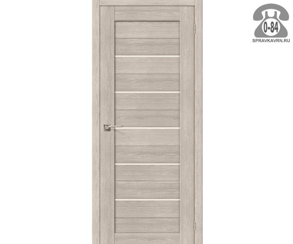 Межкомнатная деревянная дверь ЭльПорта, фабрика (el PORTA) Порта-22 Magic Fog остеклённая 80 см капучино вералинга (cappuccino veralinga)