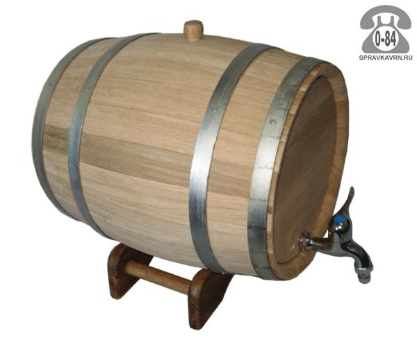 Бочка дуб для вина 50 л с подставкой Россия