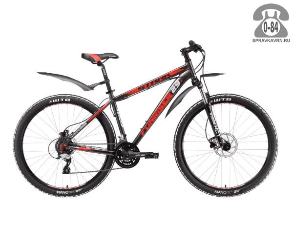 """Велосипед Старк (Stark) Funriser 29.4 HD (2017), рама 18.5"""" размер рамы 18.5"""" серый"""