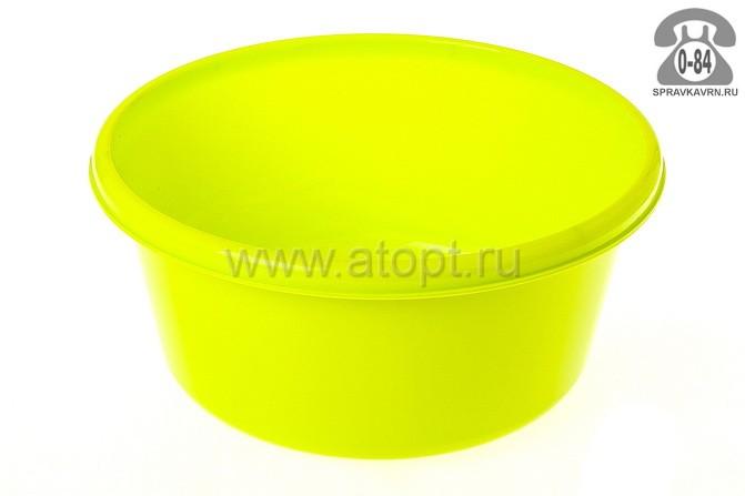 таз пластмассовый круглый 6 л (М 2511) салатовый (Идея)