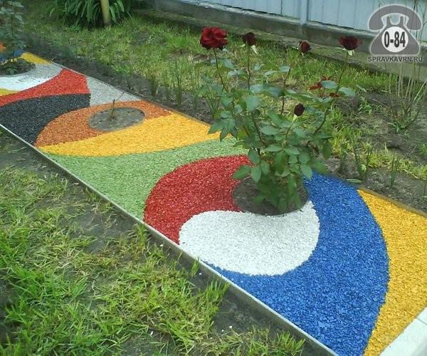 Щебень СтройБаза (Склад тротуарной плитки) гранитный 5 мм 20 мм зеленый 15 кг мешок декоративный