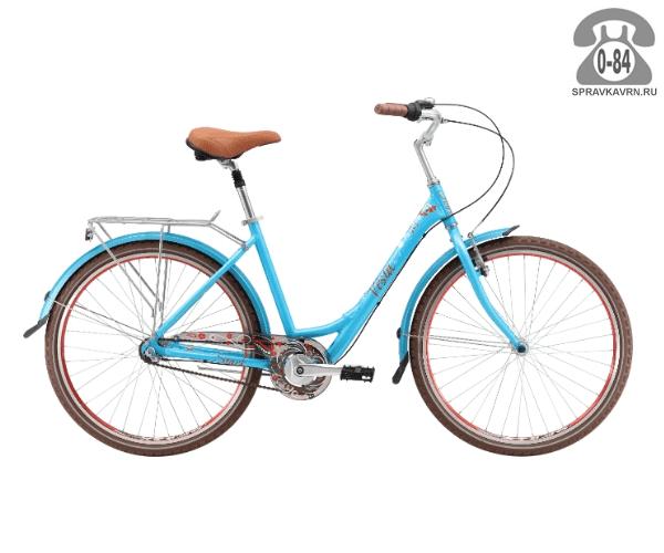 "Велосипед Старк (Stark) Vesta 26.4 V (2017), рама 18.5"" размер рамы 18.5"" синий"