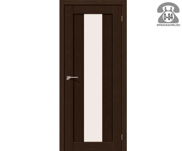 Межкомнатная деревянная дверь ЭльПорта, фабрика (el PORTA) Порта-25 alu Magic Fog остеклённая 80см, цвет: Венге Вералинга (Wenge Veralinga)