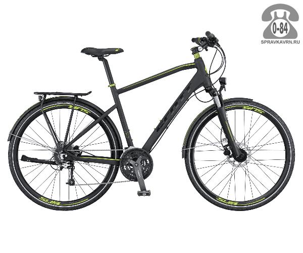 """Велосипед Скотт (Scott) SUB Sport 10 Men (2016), рама 20.5"""" размер рамы 20.5"""" черный"""