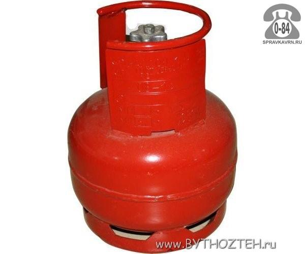 Баллон для газа пропан-бутан (бытовой) 5 л металл