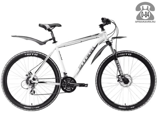 """Велосипед Старк (Stark) Router 27.3 D (2017) размер рамы 16.5"""" белый"""