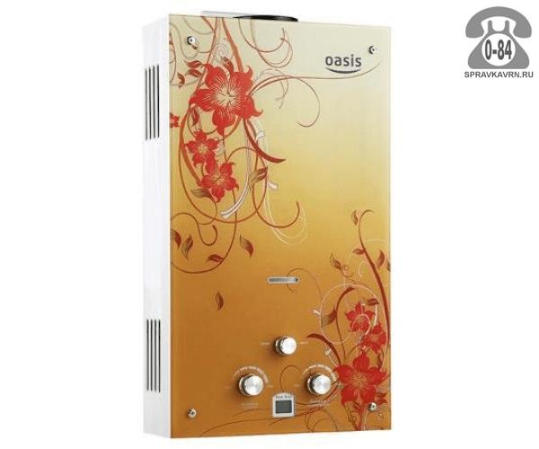 Газовая колонка Оазис (Oasis) Glass BG20 20 кВт 10л/мин открытая камера