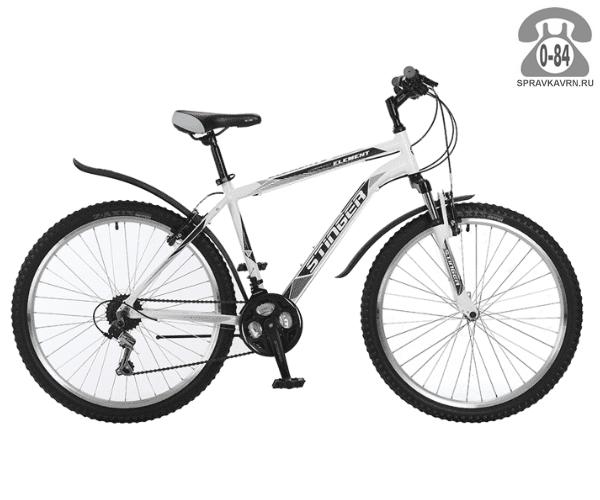 "Велосипед Стингер (Stinger) Element 26 (2017), рама 20.5"", белый размер рамы 20.5"" белый"