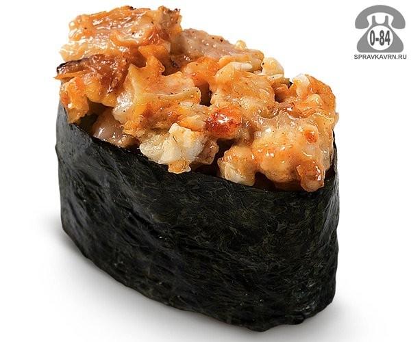 Суши Спайси унаги гункан спайс с угрем 30 г на дом