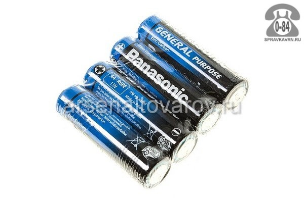Батарейка Панасоник (Panasonic) Purpose АА (LR6, R6) 4 шт