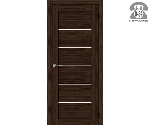 Межкомнатная деревянная дверь ЭльПорта, фабрика (el PORTA) Порта-22 Magic Fog остеклённая 80 см Венге Вералинга (Wenge Veralinga)