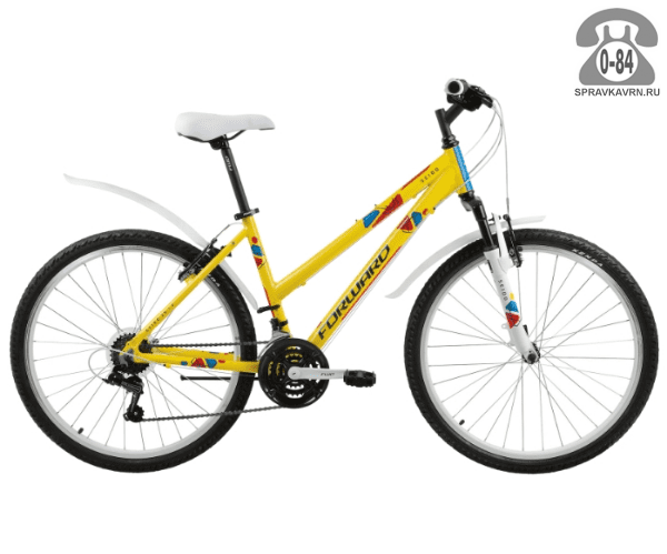 """Велосипед Форвард (Forward) Seido 26 1.0 (2017) размер рамы 15.5"""" желтый"""