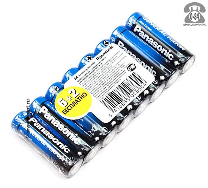 Батарейка Панасоник (Panasonic) Purpose R06 8 шт