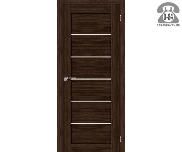Межкомнатная деревянная дверь ЭльПорта, фабрика (el PORTA) Порта-22 Magic Fog остеклённая 70 см Венге Вералинга (Wenge Veralinga)