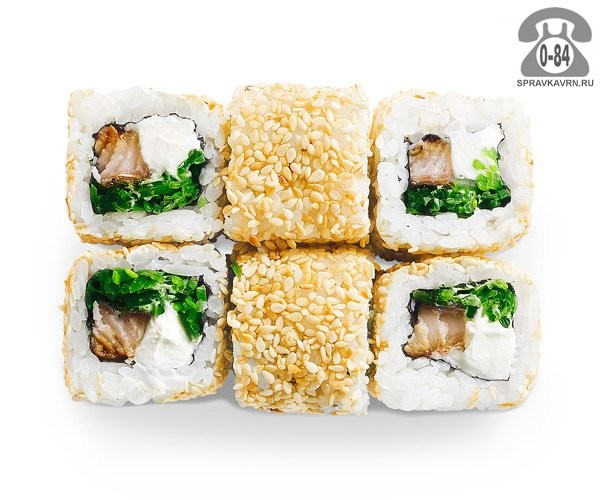 Роллы Хияши унаги традиционные угорь салат чука мягкий сыр 6 шт. 160 г