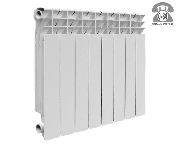 Радиатор отопления алюминиевый Алкобро (Alcobro) AL-2E500/80 640x580 мм 8 секций