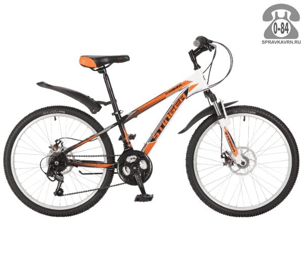 """Велосипед Стингер (Stinger) Caiman D 24 (2017), рама 14.5"""", оранжевый размер рамы 14.5"""" оранжевый"""